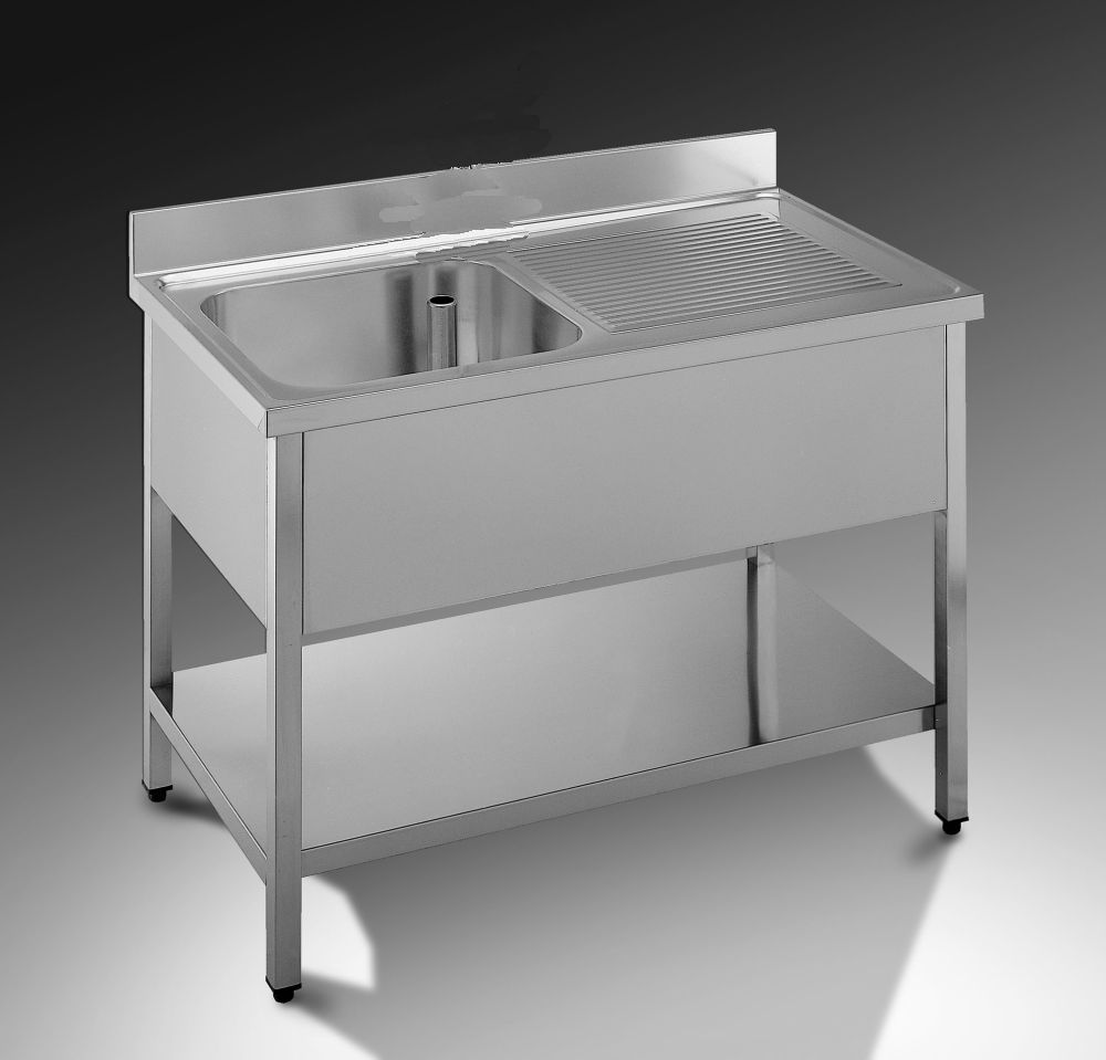 lavabo inox 1 vasca arredamenti usati. Black Bedroom Furniture Sets. Home Design Ideas