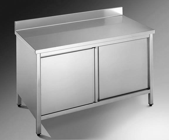 Tavoli da lavoro armadiati in acciaio inox arredamenti usati - Tavoli da disegno usati ...